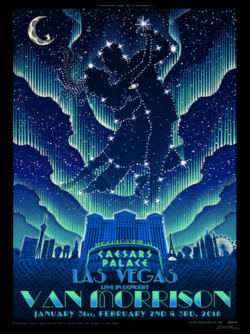 "Van Morrison ""Moondance"" Screenprint Poster by Emek 2018, S/N'd"