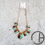 Turq Rust Necklace