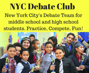 Middle School Debate Club Fall 2018 (Saturdays, 10:00am-12:00pm)