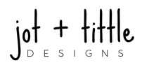 jot + tittle designs