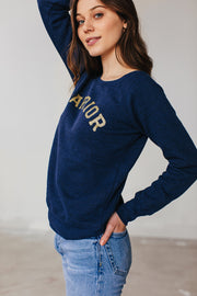 warrior wide-neck sweatshirt