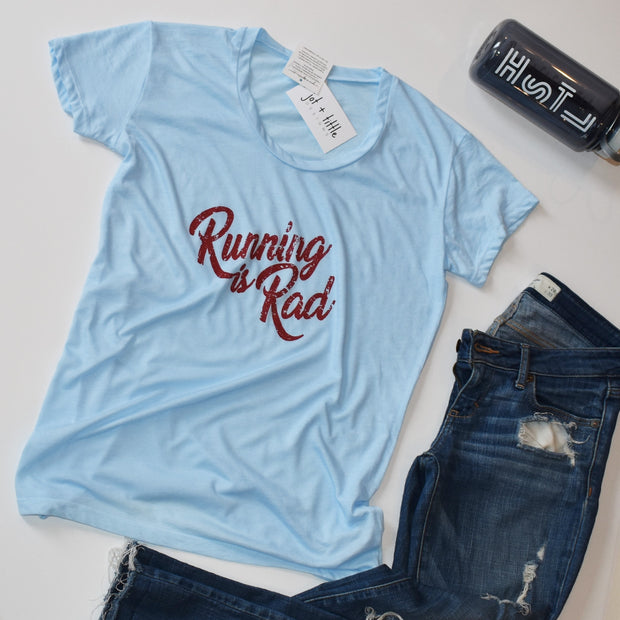 running is rad t-shirt