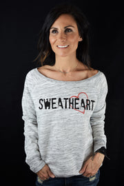 SWEATheart wide-neck sweatshirt