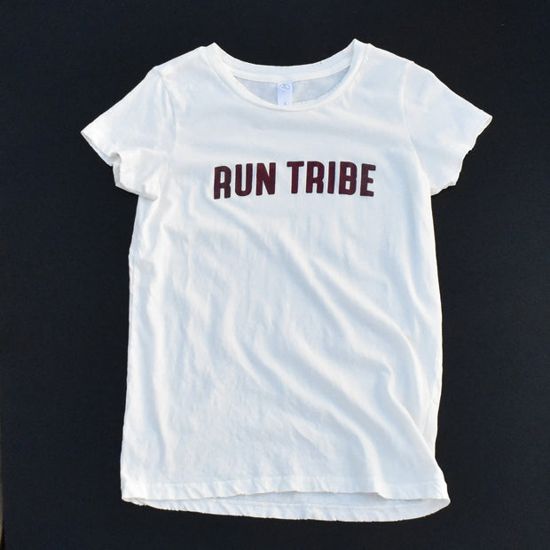 Run Tribe distressed tee