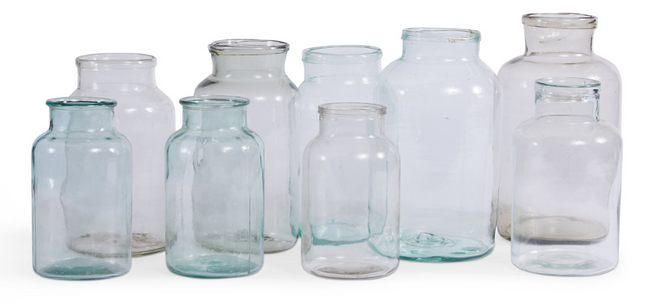 French Hand-Blown Antique Jars