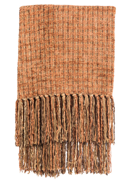 Chenille Throw - Rust