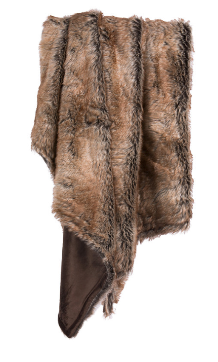 Faux Fur Throw - Brown