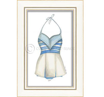 Swimsuit Blue Stripes
