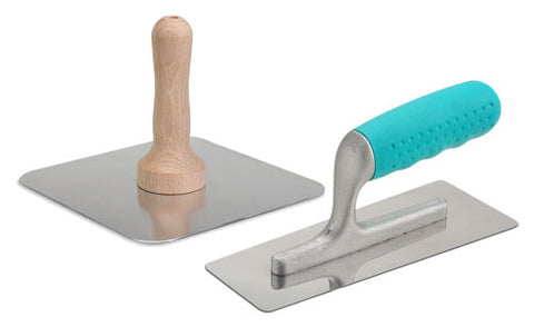 Trapezoid Finish Trowel and Hawk Set