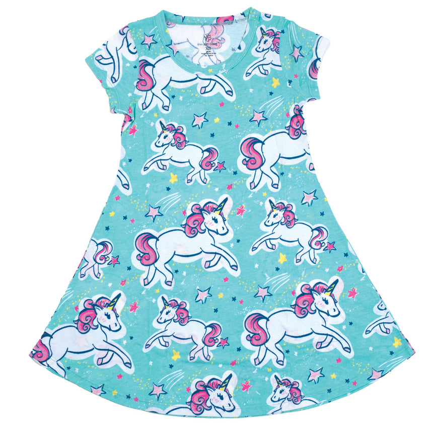 Unicorn Short Sleeve Dress - YOUTH