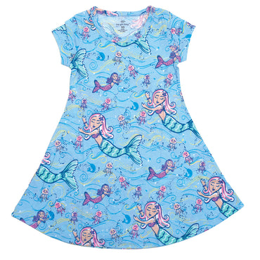 Mermaid Short Sleeve Dress - YOUTH