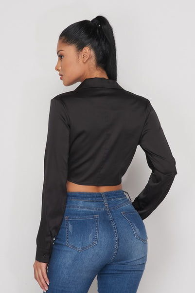black 'natalie' crop top