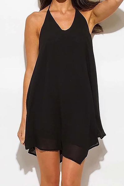 black 'halter flow' dress