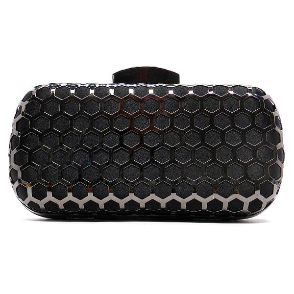 black 'chevron' clutch