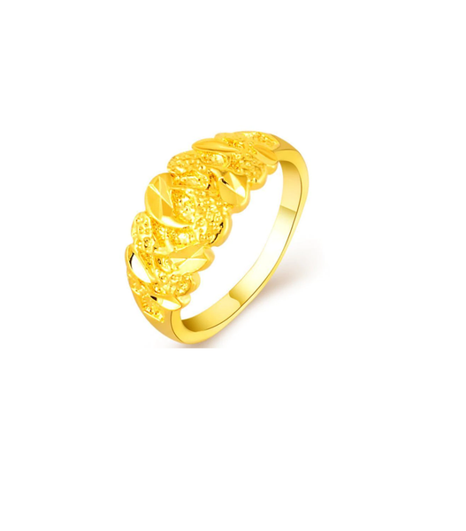 gold plated 'big promise' ring