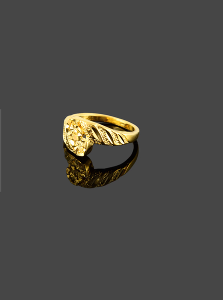 gold plated 'endless' ring