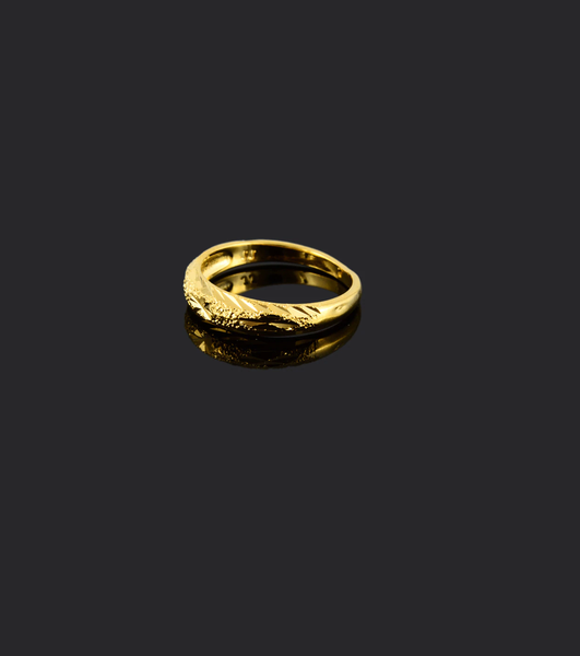 gold plated 'forever' ring