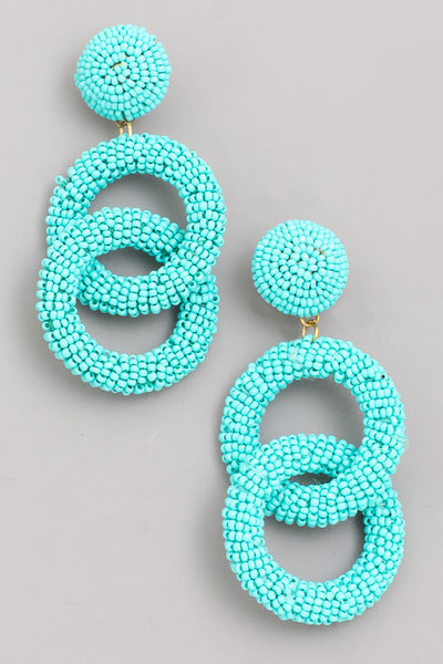 mint & teal 'keeper' earrings