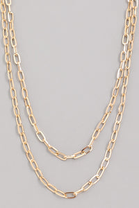 gold & two-tone 'siren' necklace