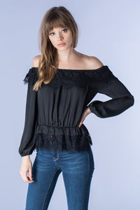 black 'lace' top