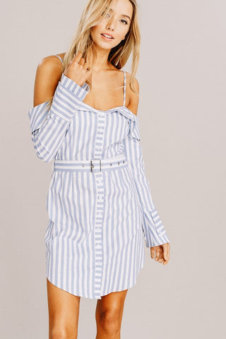 blue & white 'jenny' dress