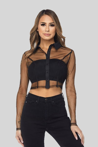 black 'logan' top