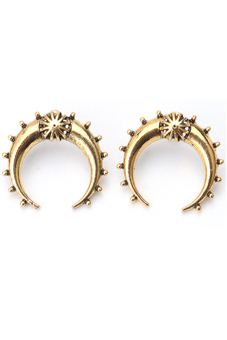 gold 'rebel' earrings