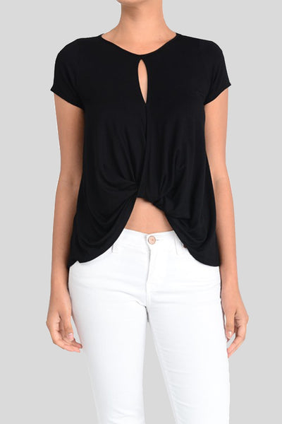 black 'knotted' top