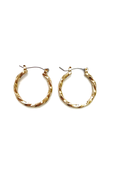 gold 'chick' mini hoops