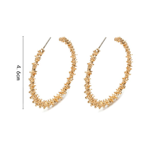 gold 'lioness' earrings