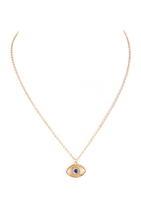 gold 'evil eye' pendant
