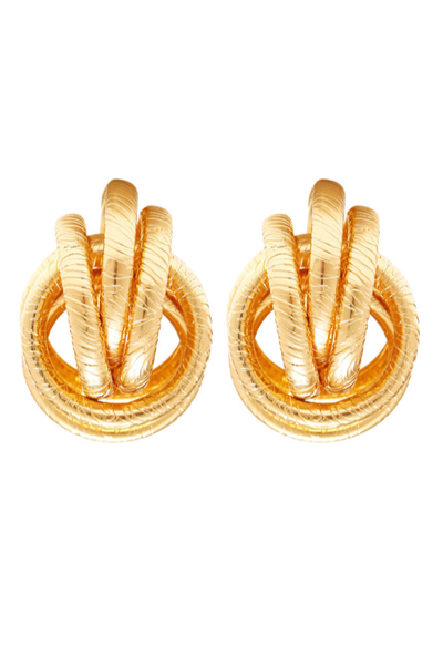 gold 'flirt' earrings