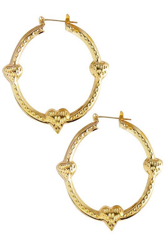 gold 'floating hearts' earrings