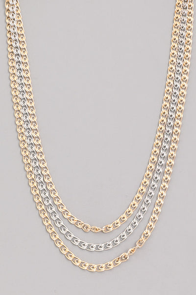 gold  & two-tone 'go-getter' necklace