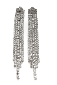 silver 'heiress' earrings
