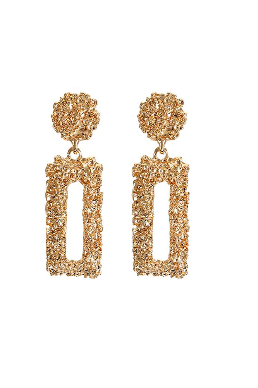 gold 'lady' earrings