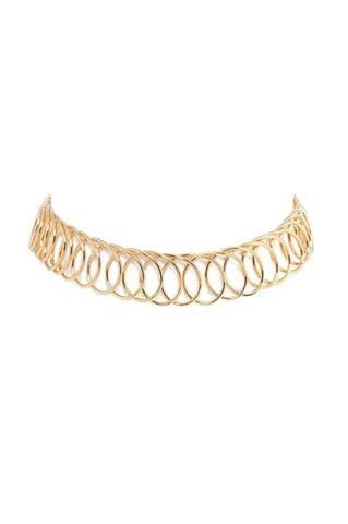 gold 'linked up' choker