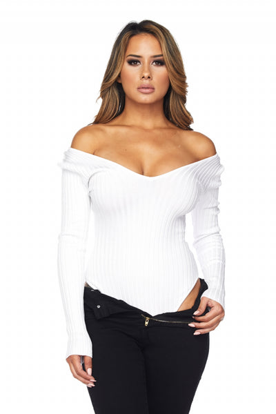 white 'nina' bodysuit