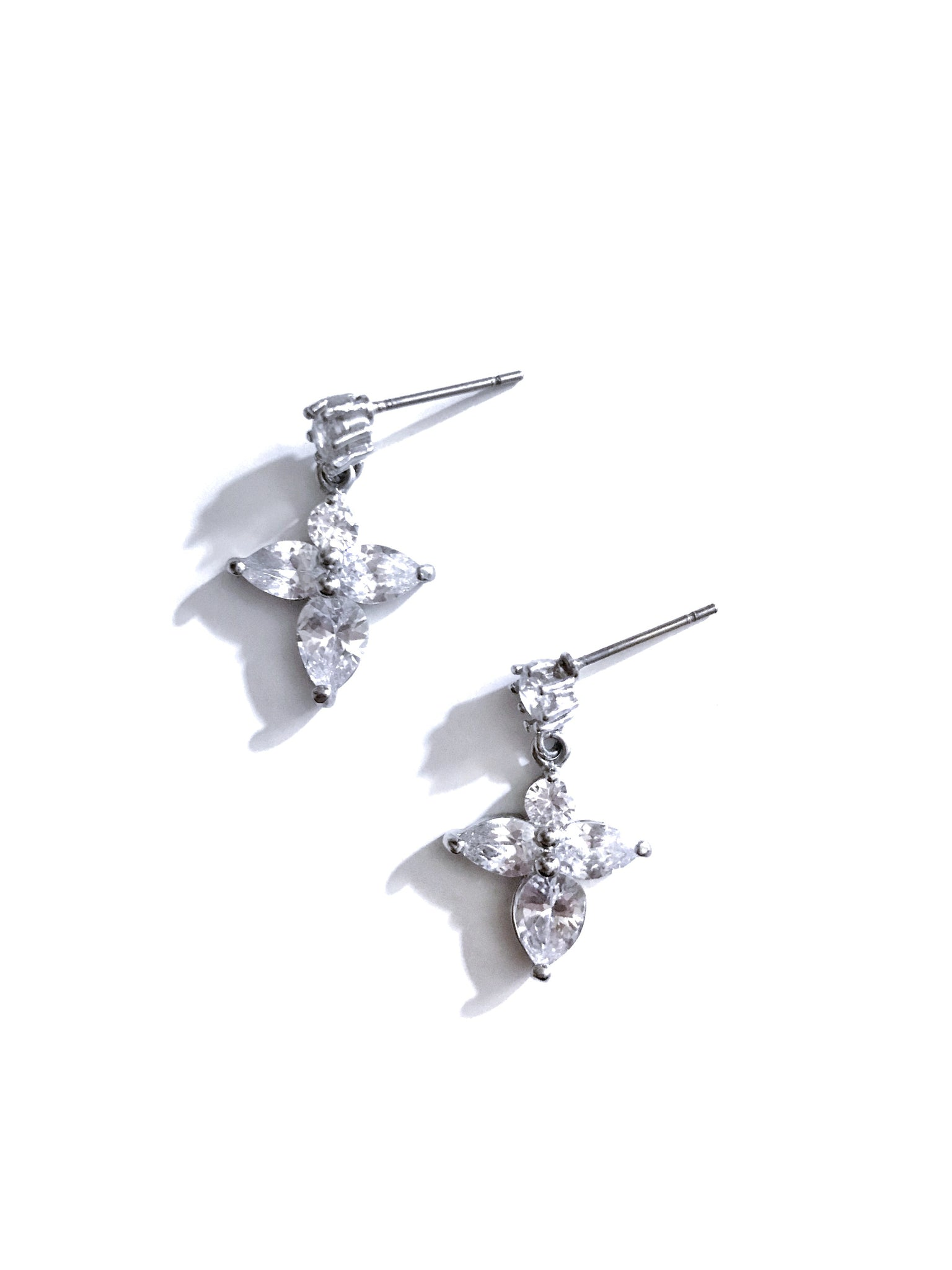 silver 'praise' earrings