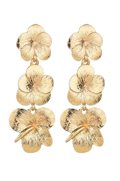 gold 'principessa' earrings