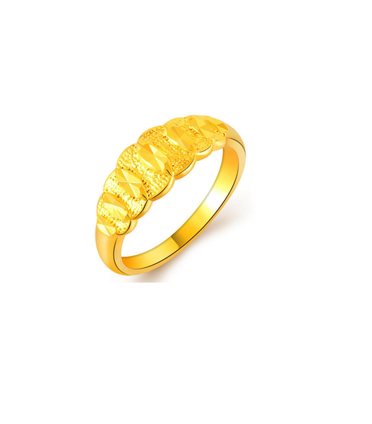 gold plated 'promise' ring