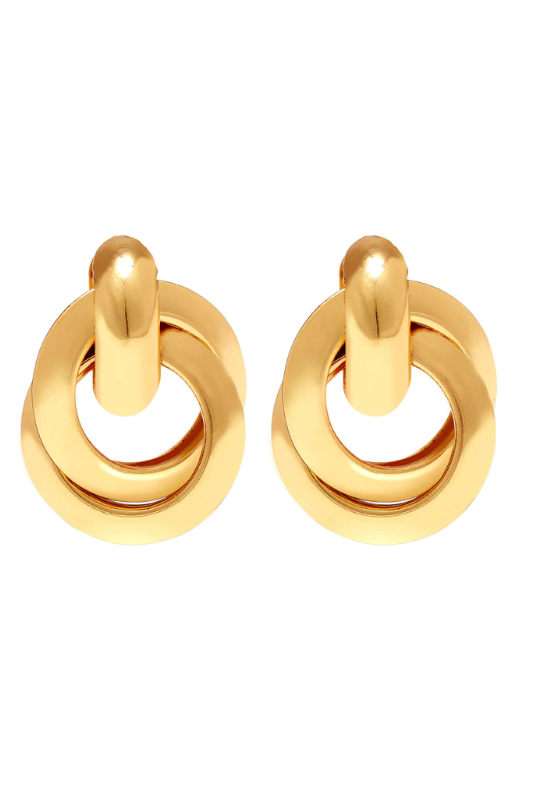 gold 'realist' earrings
