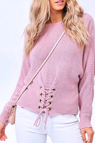 mauve 'rosie' sweater