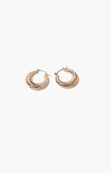 gold 'snuggler' earrings