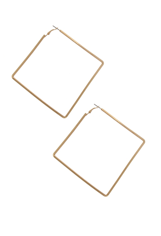 gold 'xl square' earrings