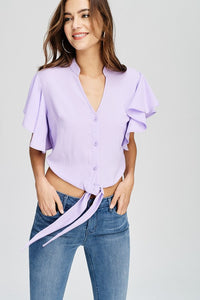 lavender 'stacy' crop top