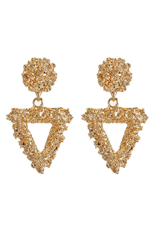 gold 'tribal' earrings