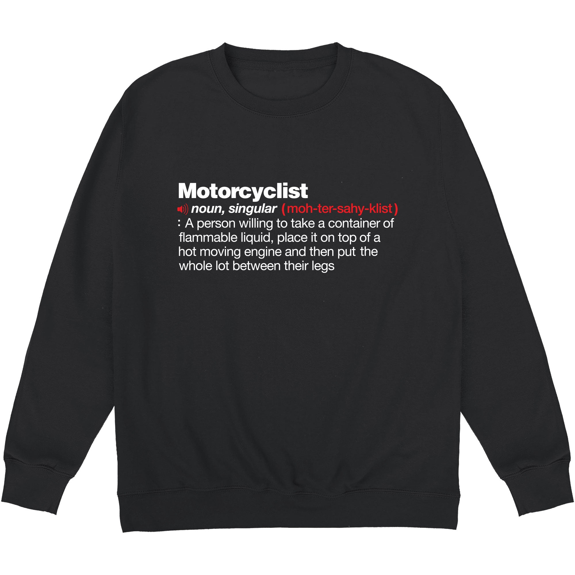 CHEAP Motorcyclist Definition Sweatshirt 24322677221 – Clothing Accessories
