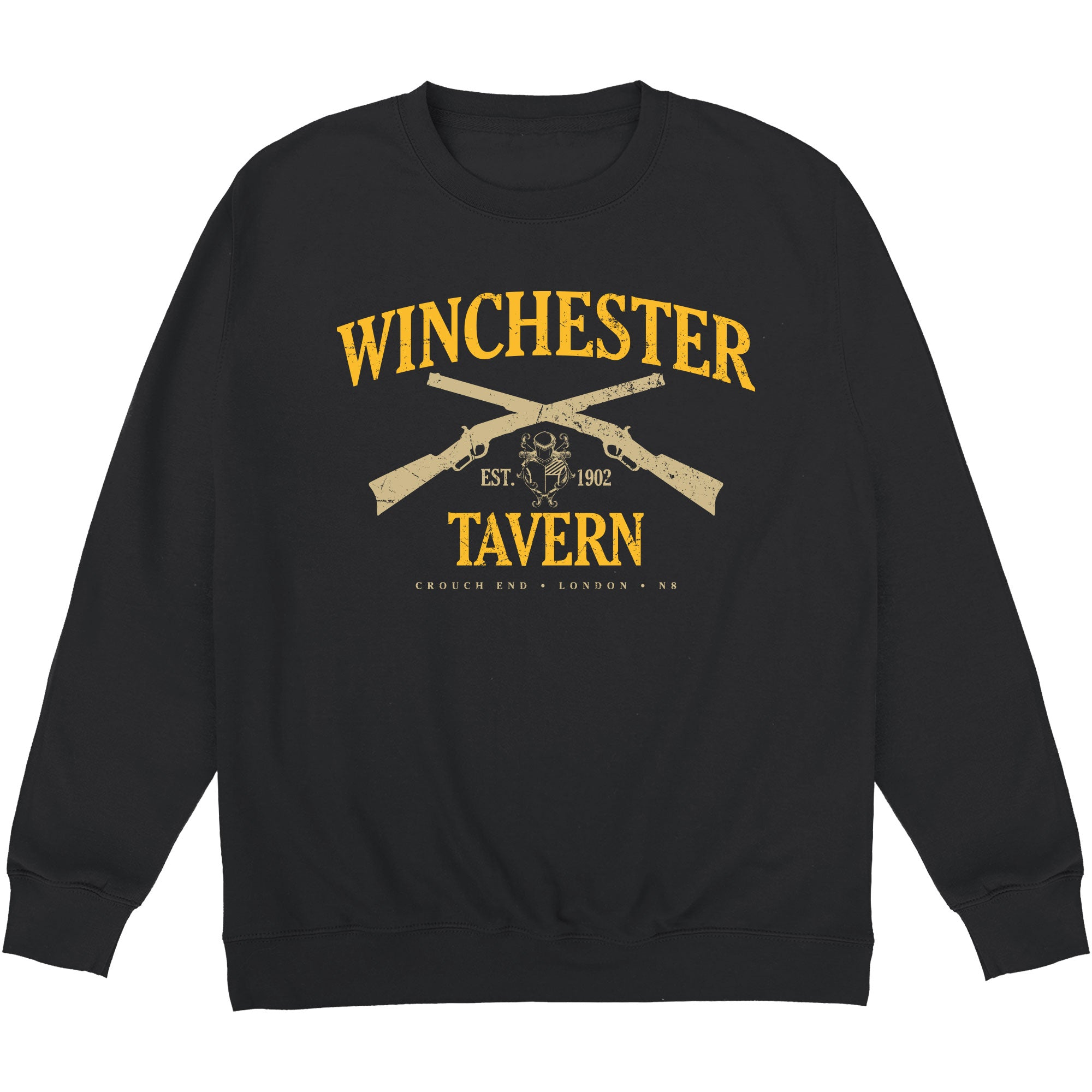 CHEAP Inspired By Shaun Of The Dead – Winchester Tavern Crewneck Sweatshirt 24322676773 – Clothing Accessories