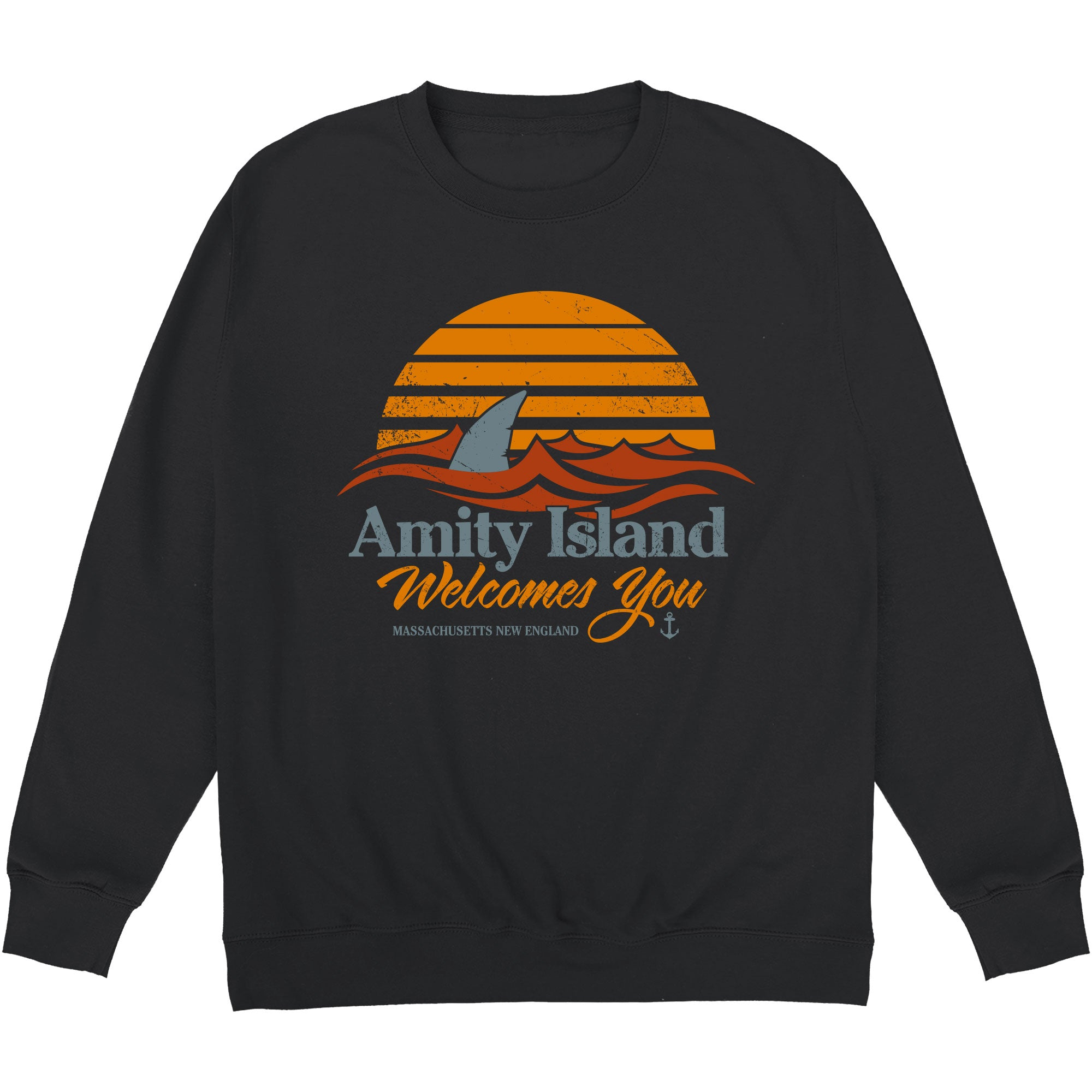 CHEAP Inspired By Jaws – Welcome to Amity Sweatshirt 24322676687 – Clothing Accessories